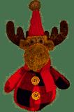 Ruby Plaid Moose Ornament