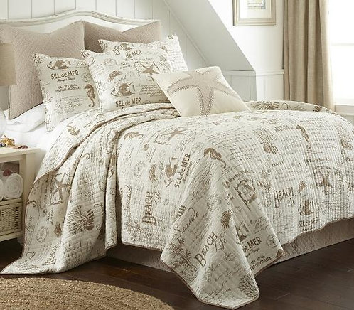 Quilt Set Beach Life Taupe - Twin