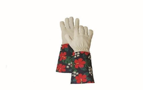 Hibiscus Gauntlet Gardening Gloves
