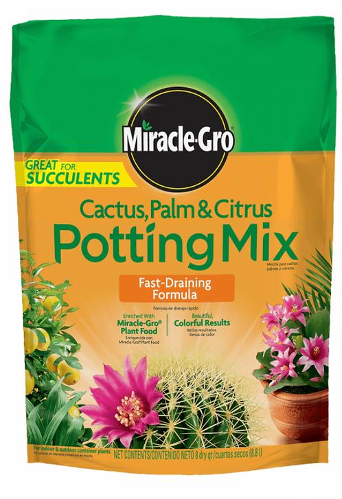 Miracle Gro Cactus, Palm & Citrus Potting Mix, 8 QT