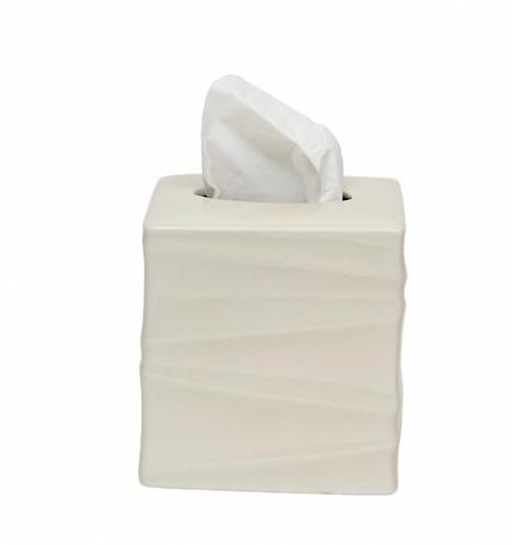 Silhouette Tissue Box - White