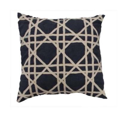 Elijah Navy Canvas Pillow