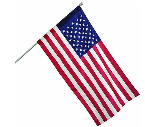 USA Flag and Pole, 2.5x4'