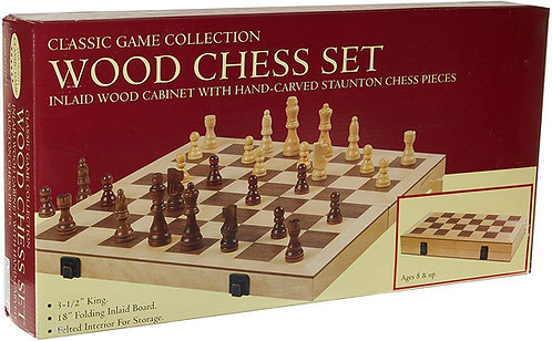 CHESS GAME - DELUXE WOOD SET