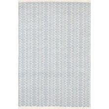 FAIR ISLE SWEDISH BLUE/IVORY COTTON WOVEN 2X3