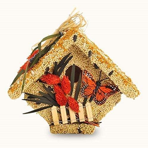 Cottage Wild Bird Seed Birdhouse