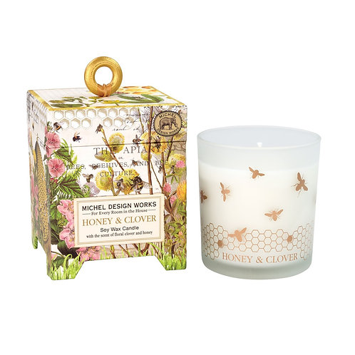 CANDLE, HONEY & CLOVER, SOY