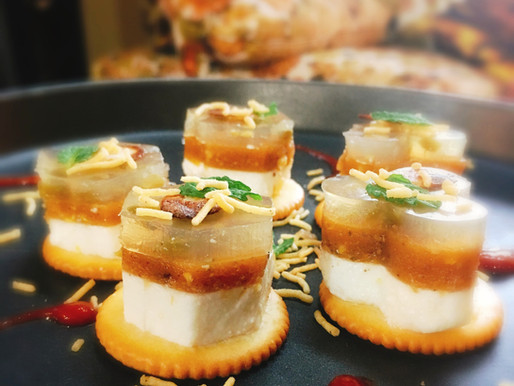 Cracker Chaat with Indian Flavours [Lv.Advanced]