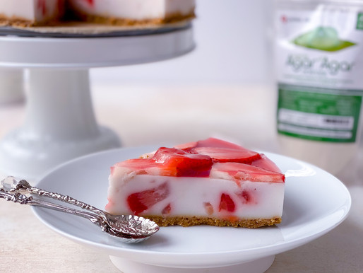 [5th contest] Vegan Strawberry & Coconut Cheesecake/No Bake