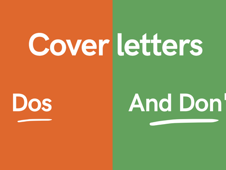 Cover letters: Dos and Don'ts