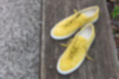 Baskets Achille Low Suede Common Projects Yellow