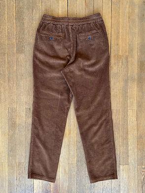 Pantalon Barena Cosma en velours, Taille élastique, Marron