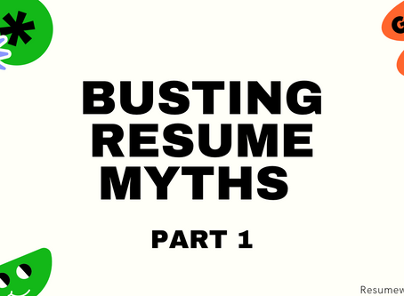 Busting Resume Myths: FAQs for Freshers!