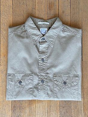 Chemise de travail Orslow coupe ample, Twill, Beige