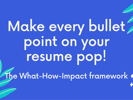 Make every bullet point on your resume pop!