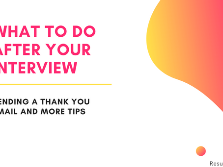 What to do after an interview