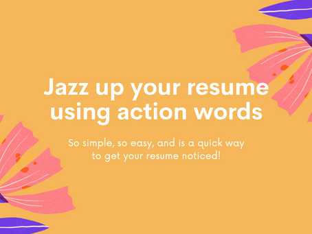 Jazz up your resume with action words!