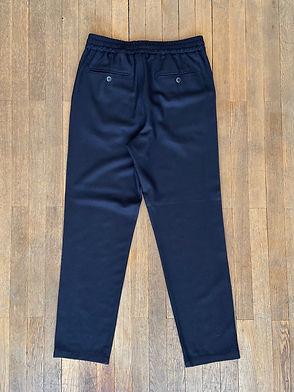 Pantalon Barena Cosma en laine Frare, Taille élastique, Marine