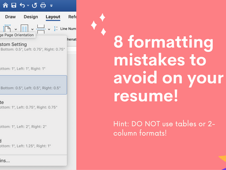 8 formatting mistakes to avoid on your resume!