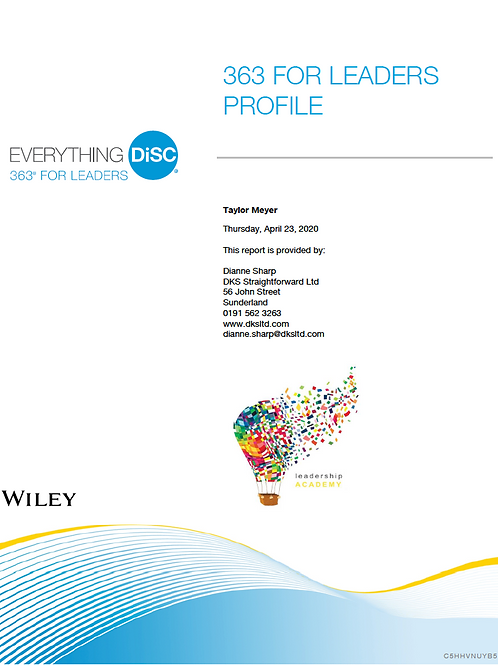 Everything DiSC© 363 for Leaders Profile
