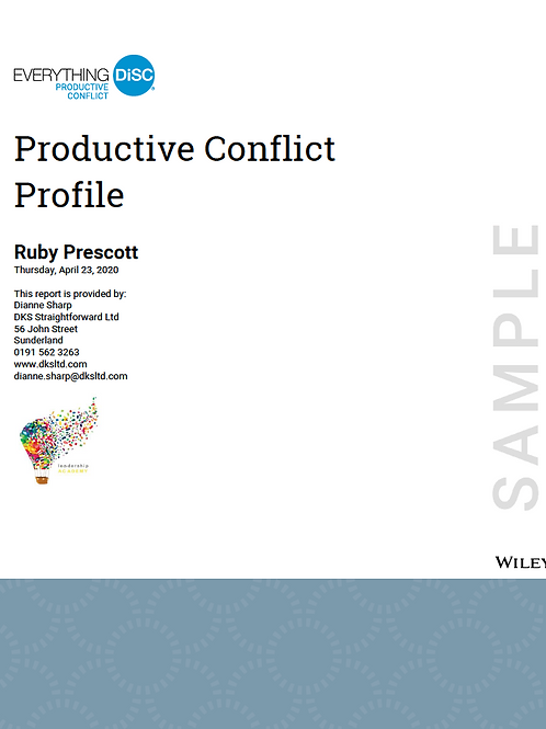Everything DiSC©  Productive Conflict Profile