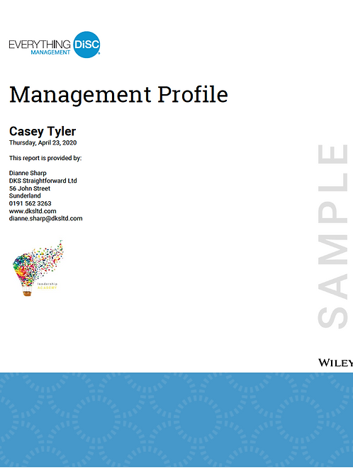 Everything DiSC©  Management Profile