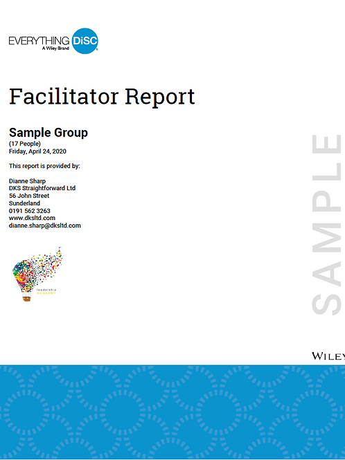 Everything DiSC©  Group Facilitator report