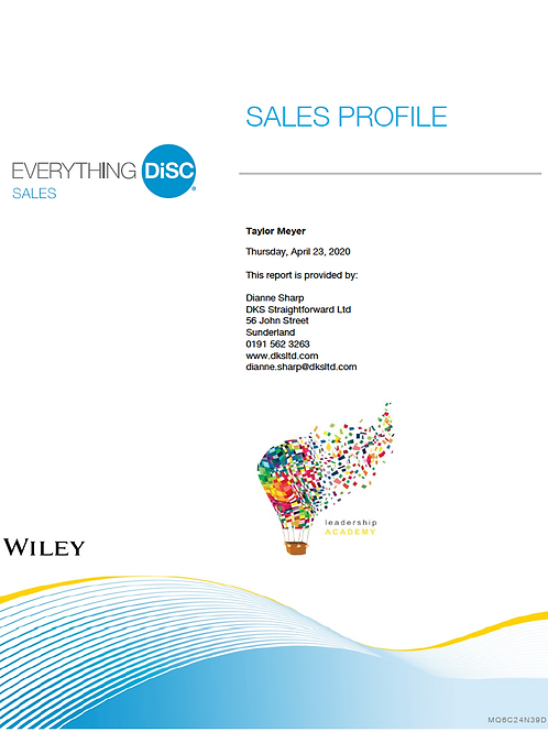Everything DiSC©  Sales profile