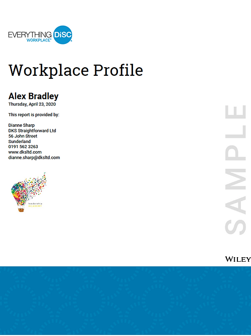 Everything DiSC©  Workplace Profile