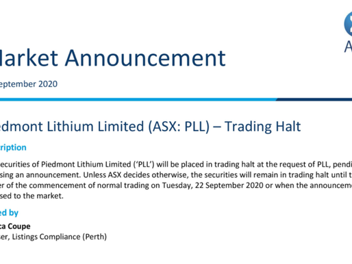UPCOMING NEWS - Piedmont Lithium.
