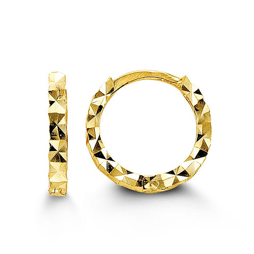 10kt Yellow Gold huggie hoops