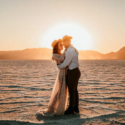Skye at Utah Salt Flats with Britt and Bean Photography