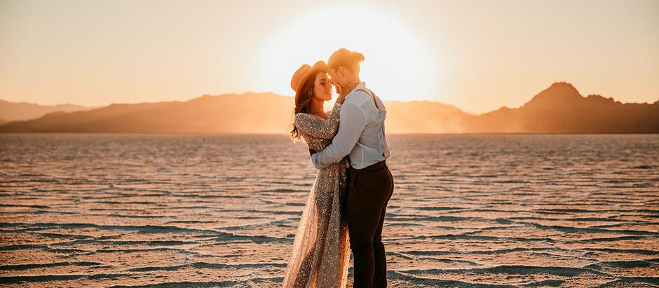 Skye at Utah Salt Flats with Britt and Bean Photography