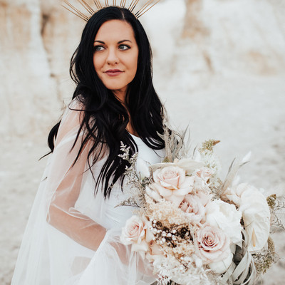 A Bride, a Bouquet and a Beautiful Gown
