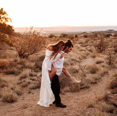Romantic and Whimsical Desert Elopement