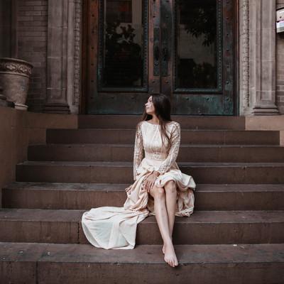 Emma Gown in Downtown Honolulu