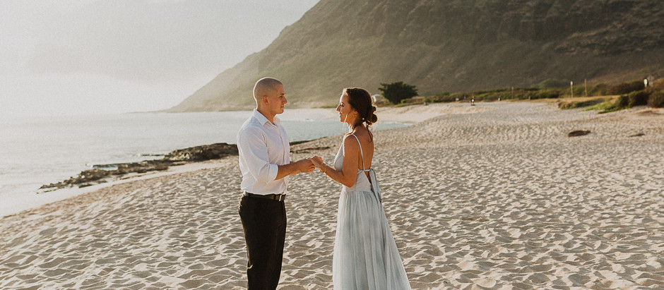 Oahu Beach Elopement with Styled Elopements