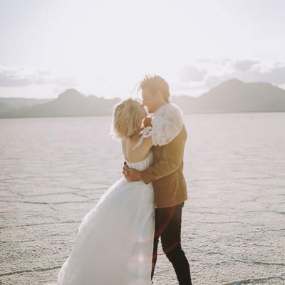 Utah Salt Flats Styled Wedding Shoot