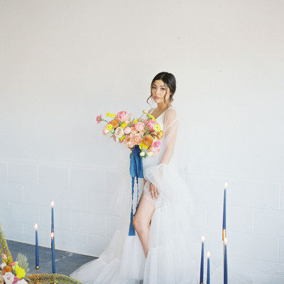 Citrus Boho Bridal Session