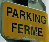 PARKING DE RENE LEDUC FERME AU PUBLIC