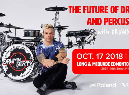 BRINGING THE VDRUMS TO EDMONTON OCT. 17, 2018!