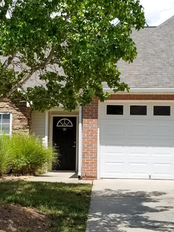 The Bradford Exterior with One Car Garage in the Front