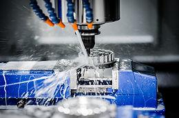 Metalworking CNC milling machine. Cuttin