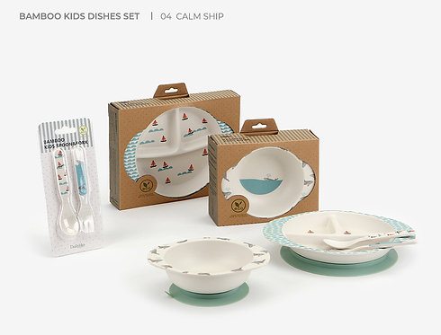 <Calm Ship>Bamboo Suction Dinnerware Set