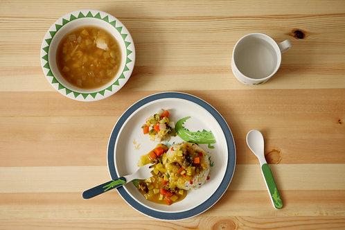 Crocodile- Bamboo+Corn Dinner set<Ver.2>