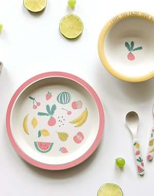 Fresh Fruit-Bamboo+Corn dinner set <Ver.2>