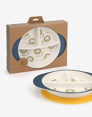 Little Lion-Bamboo+Corn Sectional Plate