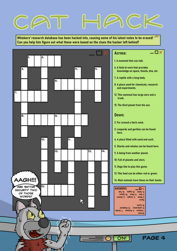 Animal Invaders Crossword Page