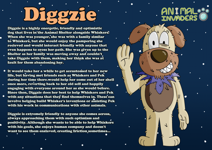 Character Description Sheet (Diggzie)