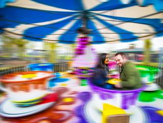 A rollercoaster of an engagement shoot!